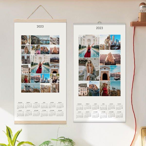 Calendario Collage Fotografico annuale poster Collage