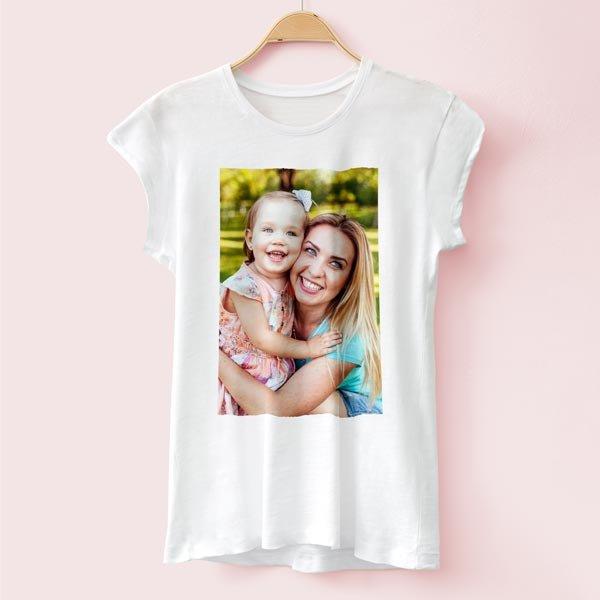 T-Shirts Moda Donna personalizzata Stampa magliette 100% cotone
